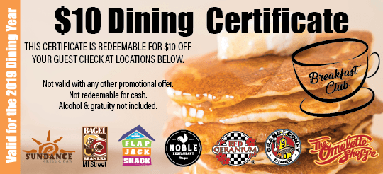 Breakfast Club Gift Certificates